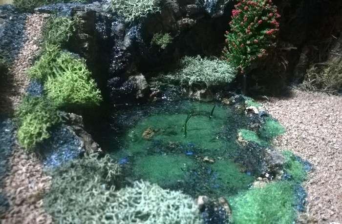 Laghetto in acqua sintetica - Diorama