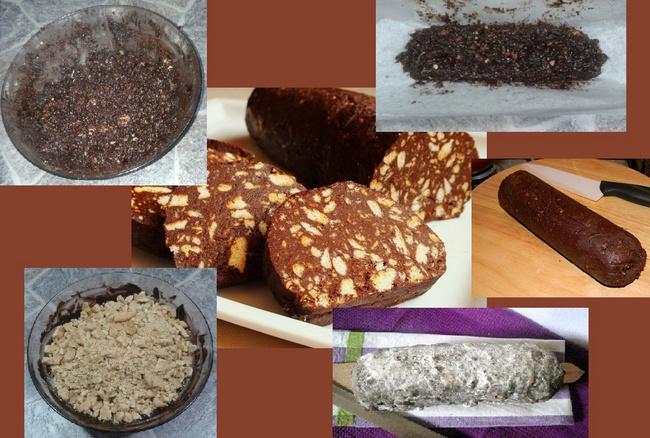 Salame al Cioccolato - Fasi di Preparazione