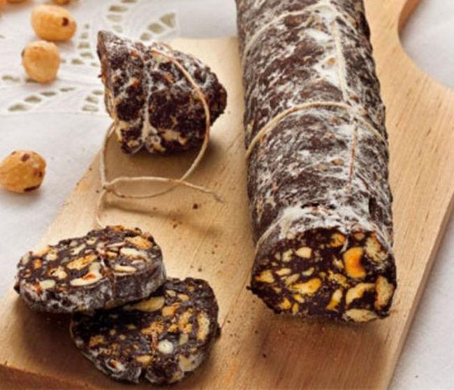 Salame al Cioccolato legato