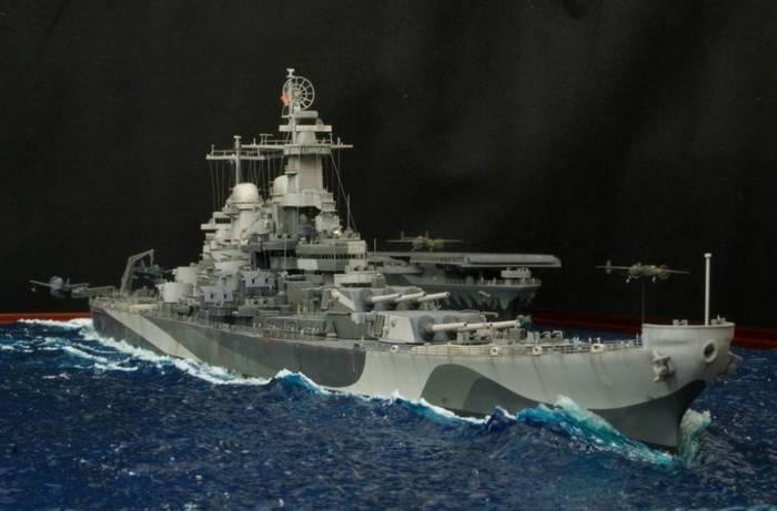 USS Missouri in navigazione - Diorama Set